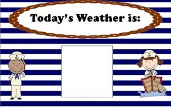 Calendar Math Weather, Bar graph, Tally table (2 versions-1 set Nautical)