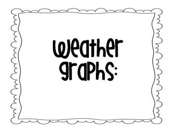 Calendar Math Weather & Temperature Graphs and Tally Mark Chart