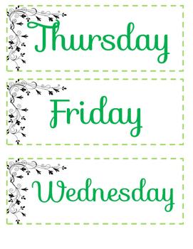 Calendar Math Week Days, Days, and Years
