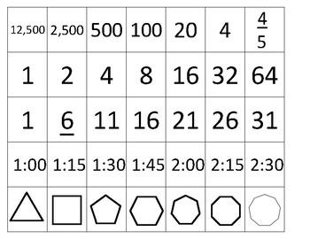 Calendar Math Weekly Patterns - for the Upper Grades!
