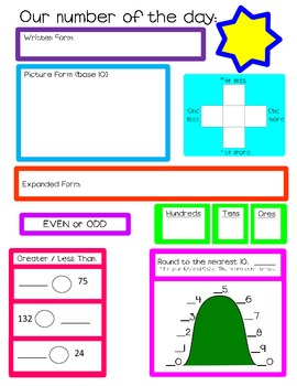 Calendar Math Workmats for Dry Erase Markers