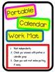 Calendar Math Workmats for Dry Erase Markers