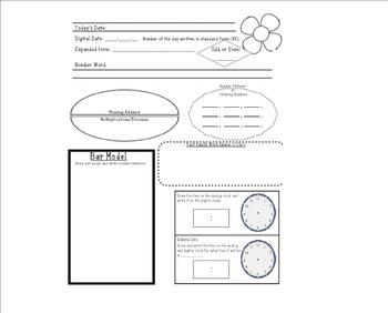 Calendar Math Worksheet