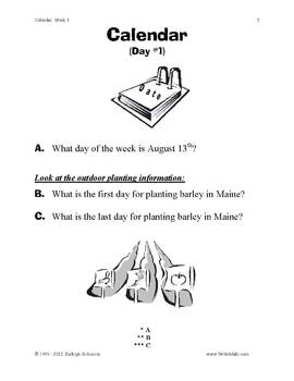 Teaching Calendar Skills | 3rd, 4th, 5th Grade Common Core Math Practice