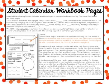 Calendar Math: 2nd Grade Workbook {Everyday Counts Aligned}
