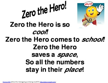 Calendar Math Zero the Hero Poster