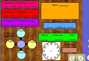 Calendar Math flipchart