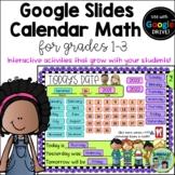 Calendar Math for Grades 1-3- Google Slides Version