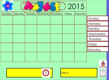 Full School Year Calendar Math
