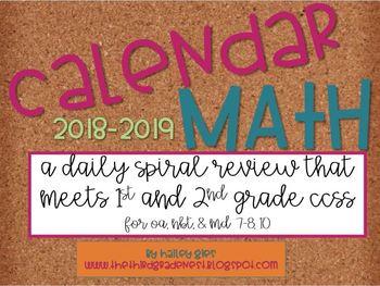 Calendar Math for Second Graders