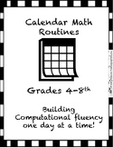 Calendar Math for Upper Elementary