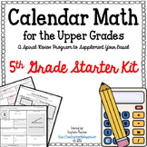 Calendar Math for the Upper Grades 5th Grade Starter Kit