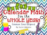 Calendar Math for the Whole Year 2018-2019