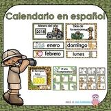 Spanish Calendar Set- Calendar Math-Jungle theme- Calendario
