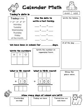 Calendar Math version 2