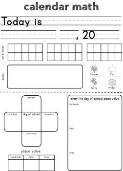 Calendar Math (with smart notebook files)