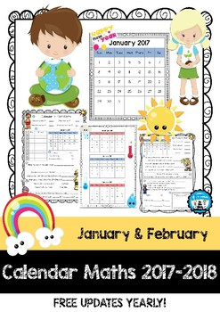 Calendar Maths - Tasks & Questions - January & February 2017 & 2018