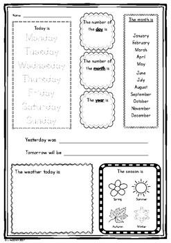 Calendar Maths Worksheet
