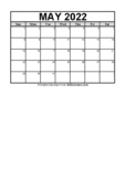 Calendar May 2021 (FREE Blank PDF Format)