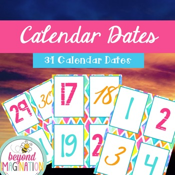 Calendar Mini-Bundle Bright and Bold Themed | Classroom Decor