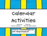Calendar Mini Unit Activities