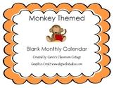 Calendar - Monkey Themed - School Year 2013-2014