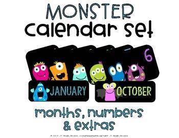 Calendar Set {Monster Theme}