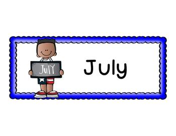 Calendar Month Banner