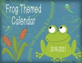 Calendar: Month, Day, Year Labels (Frog Themed)