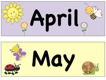 Calendar Month Headers