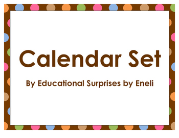 Calendar Month Headers - Dots Theme - Dots on Chocolate