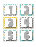 Calendar Month Headers, Year Labels, and Numbers