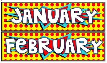 Calendar Month Headings
