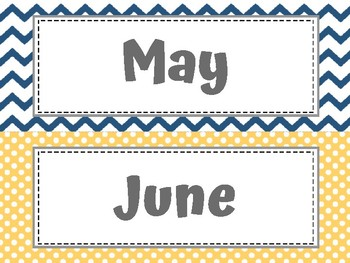 Calendar Month Labels