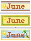 Calendar Month Seasonal Labels - 3 for Each School Month