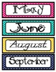 UPDATE!! Calendar Month labels with 2014-2018 year labels,12 months & 0-9 labels