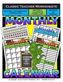 Calendar - Monthly Calendar (Monday to Friday) & Monthly Information Templates