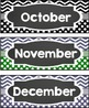 Calendar Monthly Headings Chevron and Dots