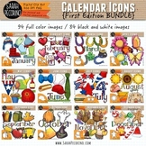 Calendar Monthly Icons Clip Art BUNDLE {First Edition}