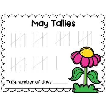 Calendar Monthly Tally Sheets