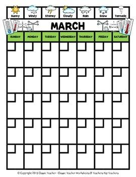 Calendar Monthly Weather Calendar Sunday To Saturday Science Math