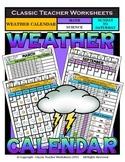 Calendar - Monthly Weather Calendar - Sunday to Saturday - Science/Math