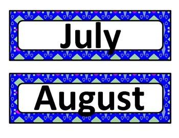Calendar - Months