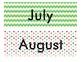 Calendar Months Beach Themed