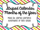 Calendar Months {Bright Striped}