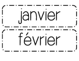 Calendar Months Bulletin Board Cards - French