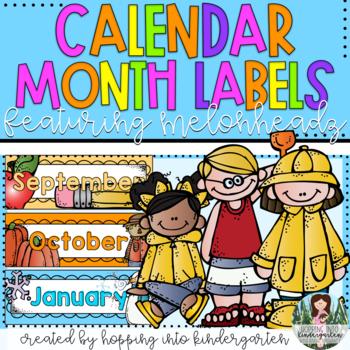 Calendar Months Cards ft. Melonheadz Clipart