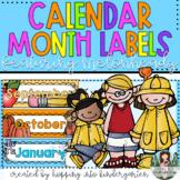 Calendar Months Labels ft. Melonheadz Clipart