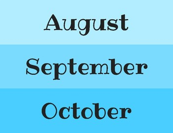 Calendar Months, Days, and Years