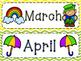 Calendar Months & Days of the Week